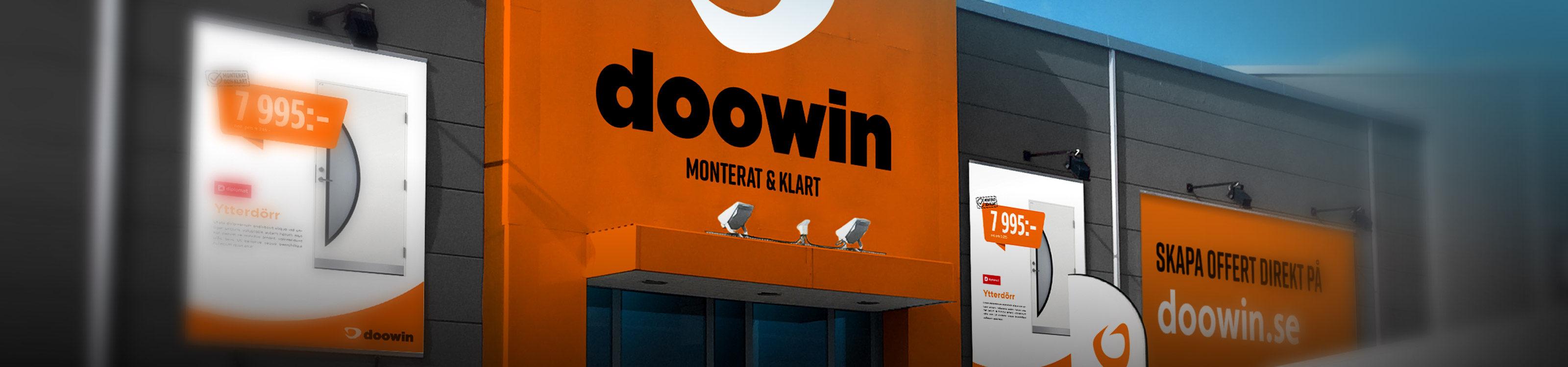 Bild på fasad på Doowin-butik